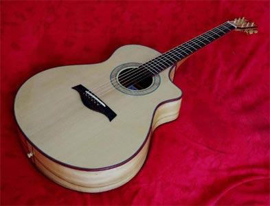 Myrtlewood Acoustic Guitar with Port Orford Cedar Top