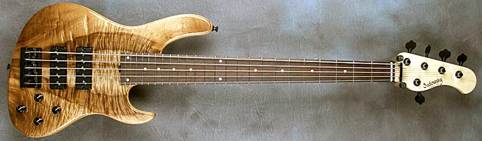 Myrtlewood Solid Body Electric Bass Guitar by Sadowsky Guitars