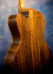 Bastogne Walnut Arch Top Acoustic Guitar by Thorell Guitars