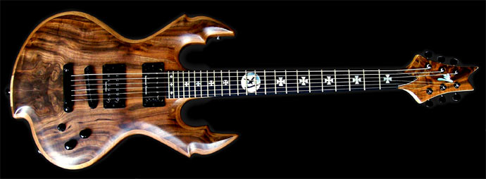 "Claro Walnut ""Redemption"" Solid Body Electric Guitar by Monson Guitars"