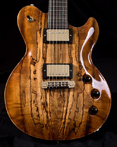 Spalted & Figured Myrtlewood Solid Body Electric Guitar by Kapps Guitar