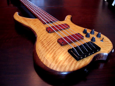 Myrtlewood Solid Body Electric Bass Guitar by Lonny White