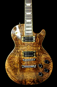 Figured Bastogne Walnut Les Paul Style Solid Body Electric Guitar by Ralph Hope, England