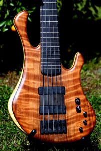 Redwood Solid Body Electric Bass Guitar by Tom Clement