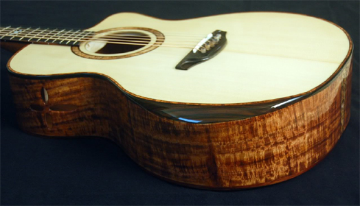 Koa Acoustic Guitar by Steve Saville