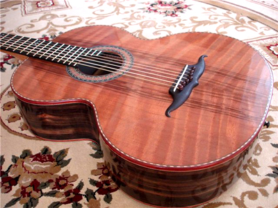 Russian 7 String Macassar Ebony Acoustic Guitar by Sergy Oreshin - Kazakhstan oreshinguitars@aol.com