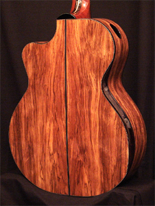 South Africa Wild Olive Wood Acoustic Guitar by Bill Wise of Charis Acoustics