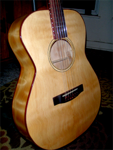 12 String with Curly Douglas fir Top, Back & Sides by Dillard Guitars USA www.dillardguitars.com
