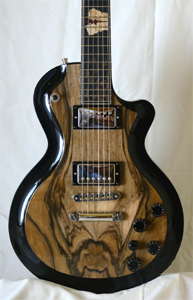 Franquette Walnut over Port Orford Cedar body by Vesper Guitars, USA