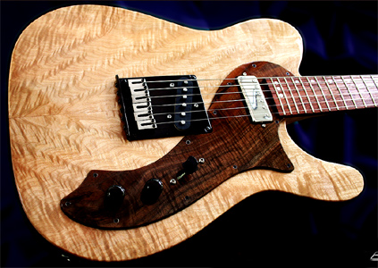 Maple Solid Body Logicaster Guitar by Black Mesa Guitars www.blackmesaguitars.com USA