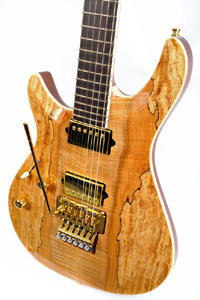 Figured and Spalted Maple guitar by Witkowski Guitars www.witkowskiguitars.com Poland