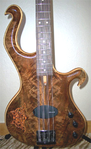 Claro Walnut 8 string Bass by Les Argoff ( https://www.facebook.com/les.argoff   )  USA