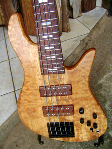 Quilted Maple 5 String Bass by Bosco Custom Guitars & Basses - Brazil