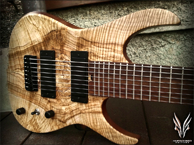 8 String Guitar with Spalted and Figured Maple top by Hufschmid Guitars www.hufschmidguitars.com  Switzerland