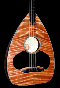 Cretan Lute with Curly Redwood Top by Nikos Rompogianakis Greece