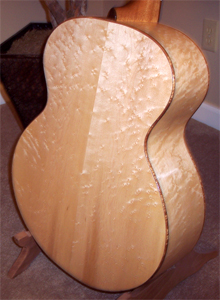 Jumbo Acoustic Birds Eye Rock Maple Guitar by Tom Sassenrath