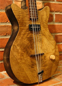 8 string Myrtlewood top electric acoustic Mandocello by Harrison Withers hcw3@hcw3.com USA