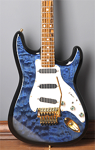 Custom Quilted Maple top on Fender Stratocaster by Guitar Slinger Music