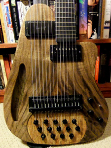 Custom Theorbo by Aaron Grad