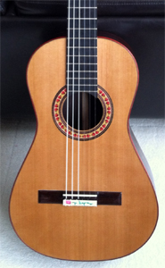 Flamenco Guitar with Port Orford Cedar top by Abe Galan, USA abegalan@aol.com