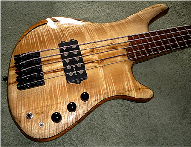 5 string Myrtlewood Bass by Firecreek Custom Guitars & Basses David.Wilson@prismmedical.co.uk UK