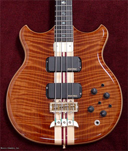 Curly Redwood Bass by Alembic  USA www.alembic.com