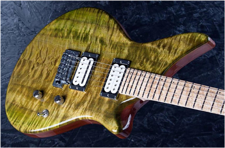 Maple Top Guitar by Franck Claise Luthier Guitares - France http://claise-guitares.com/