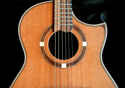 Redwood Top Guitar by Cr. Rodger Graham, N. Ireland   Hear it and the song it inspired