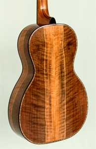 Claro Walnut & Port Orford Cedar Parlour Guitar by Derek Halligan   www.guitarsbyd.com USA