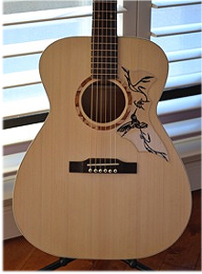 Port Orford Cedar Top Guitar by Michael Pratt mochabeast11@rogers.com  USA