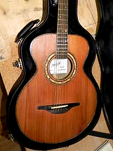 Redwood top guitar by Mytch Berdah michel.m.berdah@gmail.com Berdah.Guitars France