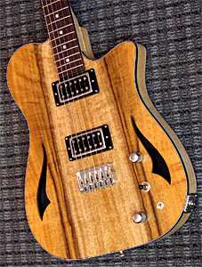 Rice Osprey #200 with Myrtlewood top by Rice Custom Guitars www.ricecustomguitars.com