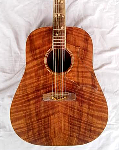 Curly Redwood Top with Walnut B&S by Brian Burgess kentuckyguitars@gmail.com USA