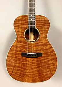 Curly Redwood Top on Acoustic Guitar by Daniel Wahlig  daniel.wahlig@gmail.com  USA