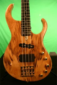 Myrtlewood Solid Body Electric Bass Guitar by Oliver Kaufmann