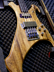 Myrtlewood Solid Body Electric Bass Guitar by AMV Luthier