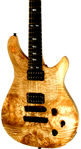 Myrtlewood Quicksilver Solid Body Electric Guitar by Ed Roman Guitars