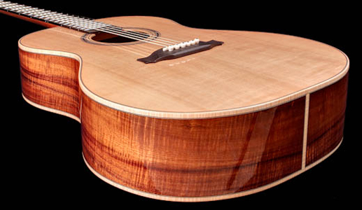 Curly Koa Acoustic Guitar with Sitka Spruce Top from Kapps Guitar