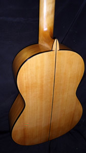 Flamenco Acoustic Guitar with Port Orford Cedar top, back, sides & neck by Les Stansell