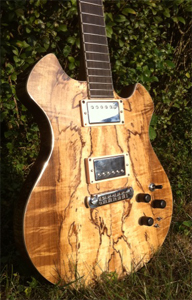 Spalted Myrtlewood Solid Body Electric Guitar by Loughney Guitars