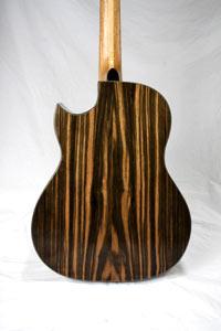 Ebony acoustic guitar