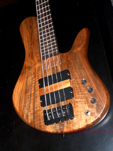Claro Walnut Solid Body Electric Bass Guitar by Torrey Kemp