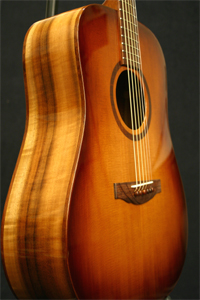 Myrtlewood Acoustic Guitar by Nunley Lutherie