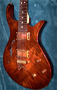 Claro Walnut Top Solid Body Electric Guitar by Peter Poynter