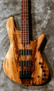 Myrtlewood Solid Body Electric Bass Guitar by Ziegenfuss Guitars, USA www.ziegenfussguitars.com