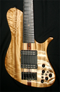 5 string Myrtlewood Solid Body Electric Bass Guitar by Utrera Custom Guitars - Venezuela