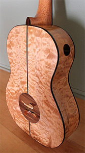 Quilted Maple Classical Guitar by Gerald Thomas USA shalom08@comcast.net