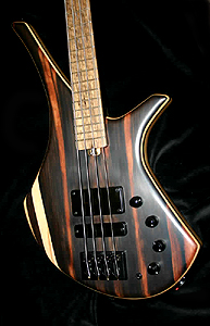 "Macassar Ebony ""Gallus"" Bass Guitar by AC Guitars, UK"