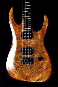 Spalted & Flamed, Maple RedWitch Solid Body Guitar by Guitar Logistics