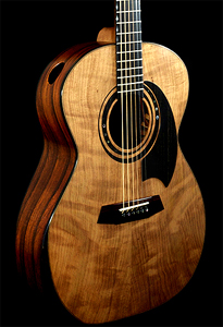 Curly Redwood top Acoustic Guitar by David Reid, England
